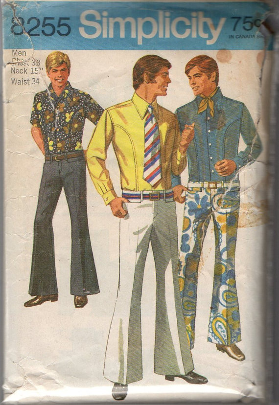 simplicity8255 mens jeans shirt front
