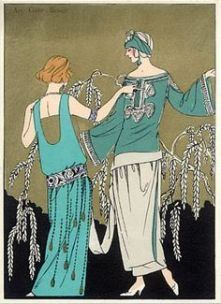1923 - pochoir illustration of molyneux and poiret