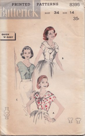 butterick 8395 front