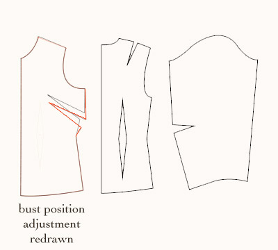 bust-position-sloper-adjustment-redrawn