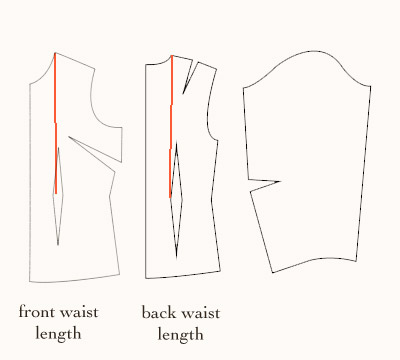 front-and-back-waist-length-measurement