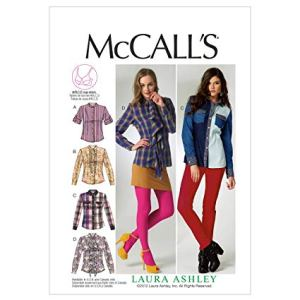 McCall 6649 loose fitting shirt pattern. For an in depth examination of ease amounts in commercial patterns, click through to the blog.