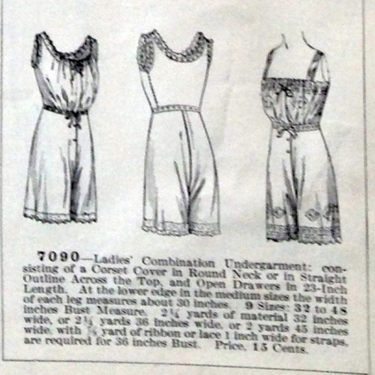 lingerie of 1915 7090 butterick combination 10