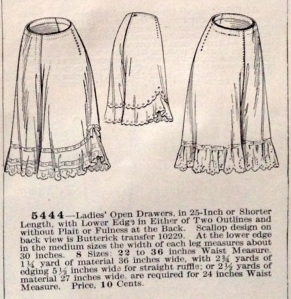 lingerie of 1915 butterick 5444 drawers 1