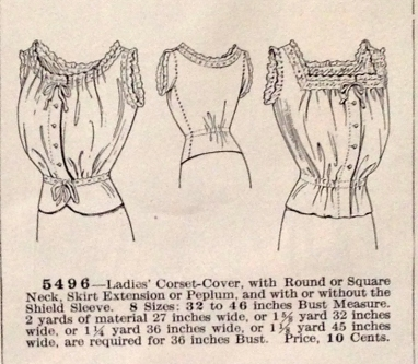 lingerie of 1915 butterick 5496 corset cover 3