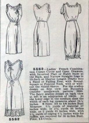 lingerie of 1915 butterick 5582 combination 6