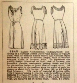lingerie of 1915 butterick 5642 combination 3