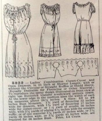 lingerie of 1915 butterick 5932 combination 1