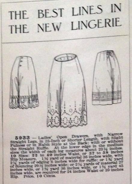 lingerie of 1915 butterick 5933 combination 7