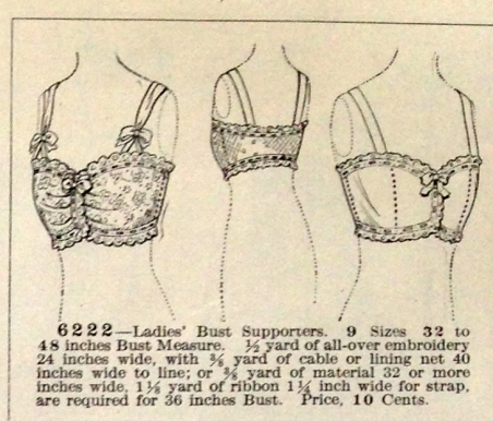 lingerie of 1915 butterick 6222 bust supporters 1