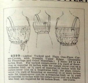 lingerie of 1915 butterick 6399 corset cover 1a