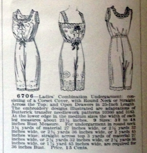 lingerie of 1915 butterick 6706 combination 13