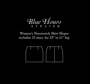 women's woven skirt sloper pattern PDF download
