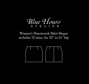 women's woven skirt sloper pattern PDF download