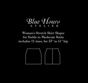 women's stretch knit skirt sloper pattern PDF download