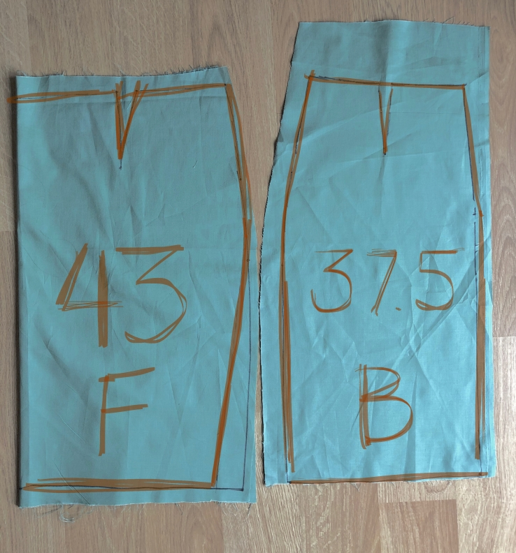 full abdomen postpartum sewing pattern adjustment sloper final